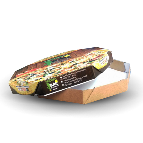 EMBALAGEM PIZZA N35 PERSONALIZADA - 1000 UNID